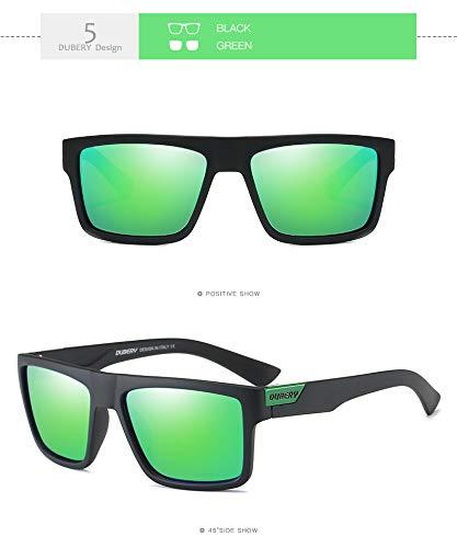 KOMNY Design De UV400 Rétro Conduite Oculos de D'été Nuances Miroir pour Polarisé E Mâle Soleil Hommes Soleil HD Marque F Hommes Lunettes Carré Lunettes prx5wpq4