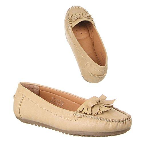 Ital-Design - zapatilla baja Mujer Marrón - marrón claro
