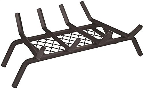 Rocky Mountain Goods Fireplace Grate with Ember Retainer - 1/2 Heavy Duty Cast Iron -Heat treated for hottest fires - Retainer for cleaner more efficient fire - Weld has (18