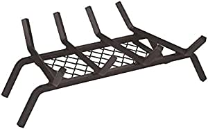 "Rocky Mountain Goods Fireplace Grate with Ember Retainer - 1/2"" Heavy Duty Cast Iron -Heat Treated for Hottest Fires - Retainer for Cleaner More efficient fire - Weld has (18"")"