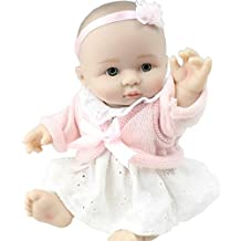 Soft Fashion Newborn Nurturing Babies Boy And Girl Realistic Full Silicone Vinyl Little Peanut 8 Inch Reborn Dolls With Fashion Clothes Kids Xmas Gift,Girl Portable Reduce Anxiety Help Autism Pregnant Women