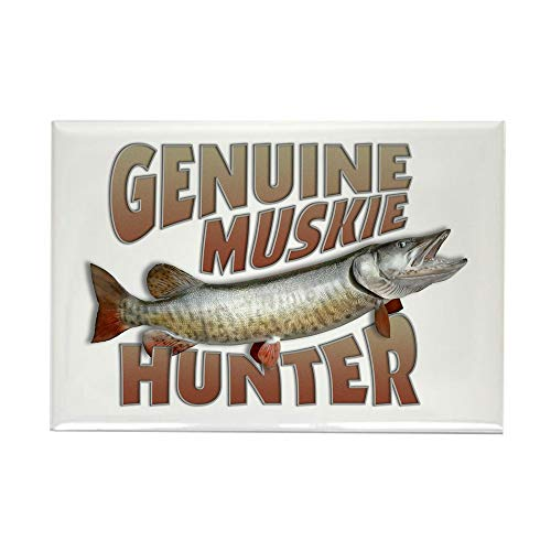 CafePress Muskie Hunter Rectangle Magnet, 2