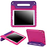 HDE Case for iPad 9.7 inch 2018 / 2017 Kids Shock Proof Bumper Cover Stand with Handle for New 6th Gen Apple Education iPad (Integrated Apple Pencil Holder) and 5th Generation iPad 9.7' - Pink Purple