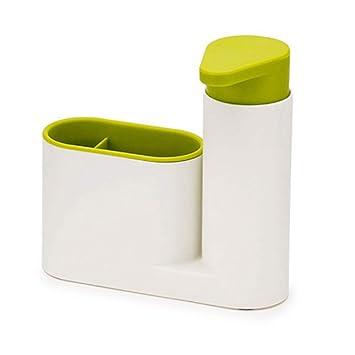 Jabonera dispensador de jabón cocina multifunción contenedor de baño compacto fregadero jabón soporte de jabón caja de higiene, hogar cocina accesorios de ...
