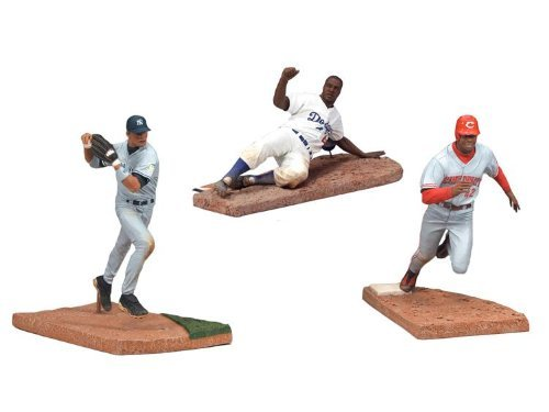 (McFarlane Toys Action Figure - MLB Jackie Robinson Day (3 Pack) - ROBINSON, CANO, GRIFFEY, JR.)