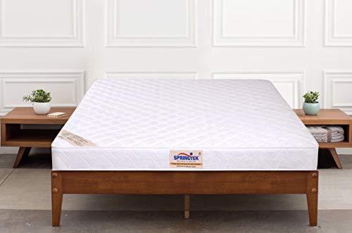 Springtek Orthopaedic Memory  amp; Bonded Foam 5 inches Coir Foam Single Size Mattress  White, 75x36x5