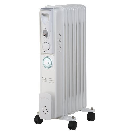 Pifco P43003ZT Tall Oil Filled Radiator with Timer, 1500 Watt, White by Pifco