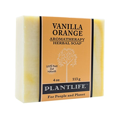 Vanilla Orange 100% Pure & Natural Aromatherapy Herbal Soap- 4 oz (113g) (Best Herbal Soap For Oily Skin In India)