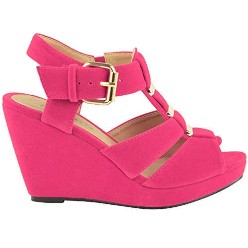 ebd4a4de4c0d Fashion Thirsty Womens Low Mid High Heel Strappy Wedges Peep Toe Sandals  Shoes Size 85%