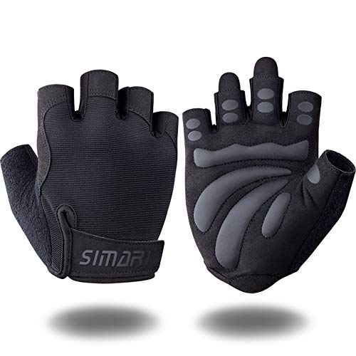 SIMARI Workout Gloves for Women Men,Training Gloves for Fitness Exercise Weight Lifting Gym Crossfit,Made of Microfiber SMRG905(Black M)