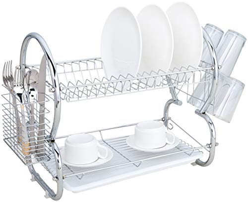 Used, Dish Drying Rack and Drainboard Set - 2-Tier For Counter for sale  Delivered anywhere in USA