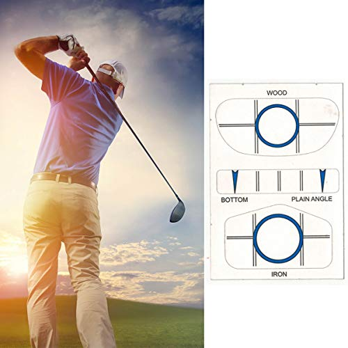 Golf Club Iron Face Impact Stickers, Target Label Impact Labels Target Sticker Tape Driver/Iron Sweet Dot Test Paper Golf Accessories