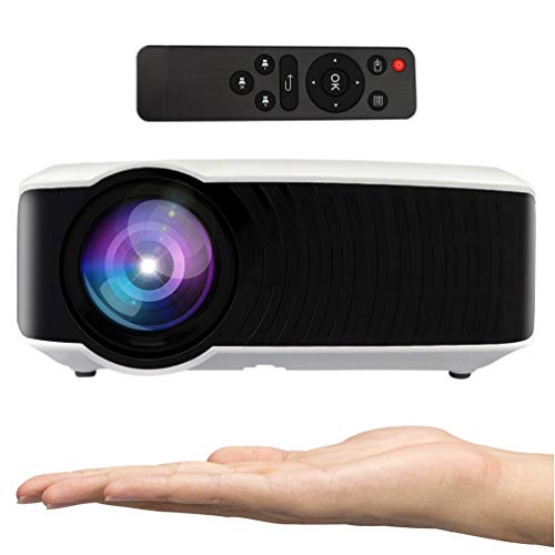 Video Projector, Hoolick Home Projector 2400 Lumen LED Home Theater Portable for Outdoor Movies Gaming TV Laptop, Support 1080P HDMI USB SD Card VGA AV for (T22) by Hoolick