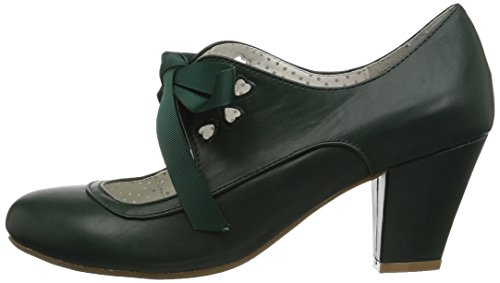 Up Leather 32 Couture Wiggle Faux Dark Pin Green OqRUfnU