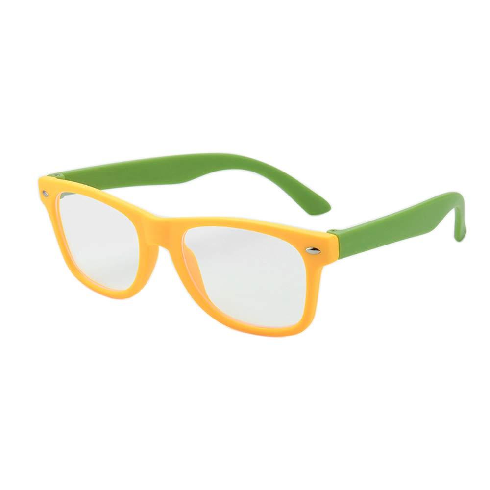 Gudzws Kids Anti Blue Light Glasses Rectangle Digital TV Boys Girls Age for 5-12