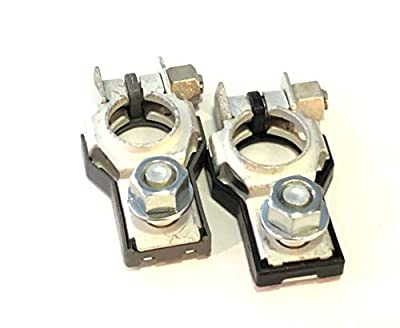 Combo Pack!! GENUINE NEW OEM Toyota 9098205035 & 9098206022 Positive and Negative Terminal Assemblies - 1 Each wi Nut