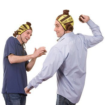 Head Velcro - Jumpin' Banana Doody Head Velcro Cap Poo Flinging Game