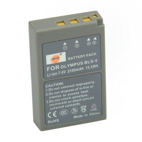 DSTE® Kit (pack of 2) BLS-5 Rechargeable Li-ion Battery + Charger DC84 for Olympus PS-BLS5, OM-D E-400,E-410,E-420,E-450,E-600,E-620,E-P1,E-P2,E-P3,E-PL1,E-PL2,E-PLE15,E-PM1,E-PM2,E-M10, E-PL6, E-PL5, stylus 1 etc ...