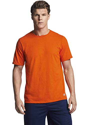 Russell Athletic Men's Essential Short Sleeve Tee, Burnt Orange, - Shirt Burnt Orange