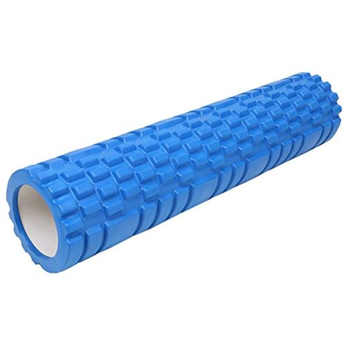 Qubabobo Rouleau de Massage en EVA + ABS Pour Yoga/Pilates Yoga Foam Roller pour Massage Musculaire Yoga Block 60*13*13cm