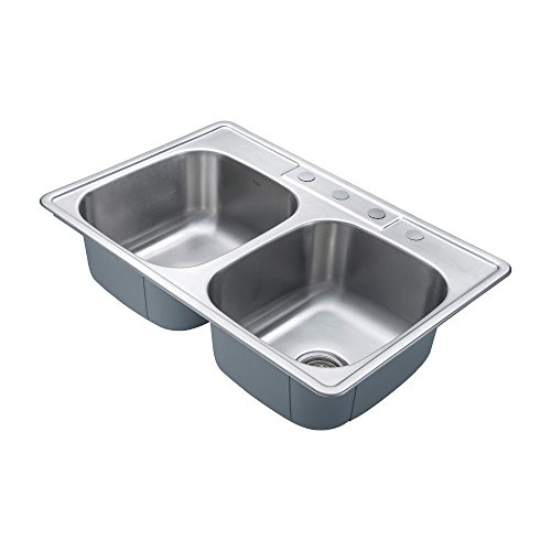 best gauge for kitchen sink kraus ktm33 33 inch topmount 50 50 bowl 18 7696