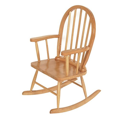 Homestead Living Traditional Childrens Rocking Chair Made from Solid Rubberwood – A Classic Addition to Your Child's Bedroom