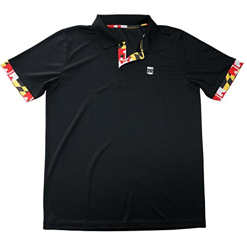 Route One Apparel Maryland Flag (Black) / Polo -