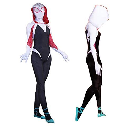 Spider-Man Into The Spider-Verse Spider Gwen Costume Kids Adult Gwen Stacy Suit Cosplay