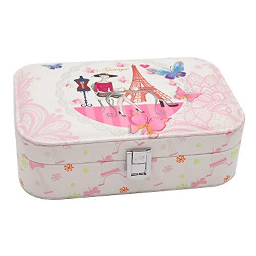 KIKISHOPQ Girl Jewelry Box Storage Jewelry Holder, Gift for Organizer Portable Travel Case(Style5 One Size)