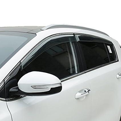 Amazon.com  Vesul Side Window Visor Rain Sun Deflectors Guard Vent Shade  Compatible with Kia Sportage 2017 2018 2019  Automotive 669f10f2da9