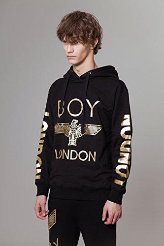 BOY LONDON '''London Printed on Sleeves Hoodie -BG3HD028 Black, X-Large by BOY LONDON (Image #1)