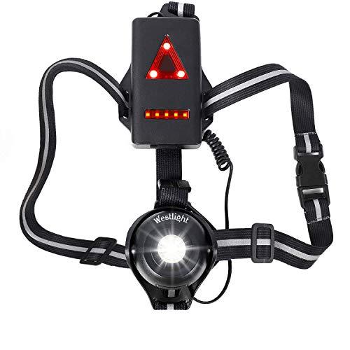 Westlight Looplicht, oplaadbare USB led looplamp sport, waterdicht, lichtgewicht lamp voor hardlopen, 500 lumen…