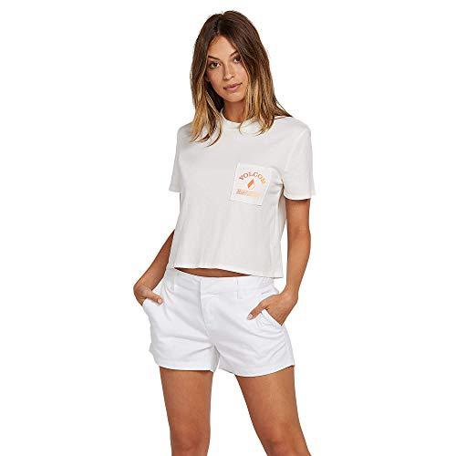 Volcom Star - Volcom Junior's Women's Made from Stoke Boxy Fit Short Sleeve Tee, Star White Medium
