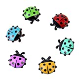Rumas 6Pcs Ladybug Fridge Magnet Stickers for Kids - Mini Cartoon...