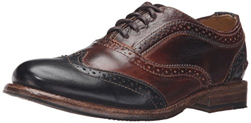 Bed Stu Women's Lita Oxford Teak/Black Rustic Rust Leather Shoe - 8.5 B(M) US by Bed|Stu