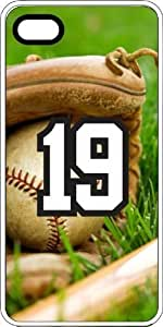 Baseball Sports Fan Player Number 19 White Plastic Decorative iphone 6 4.7 Case
