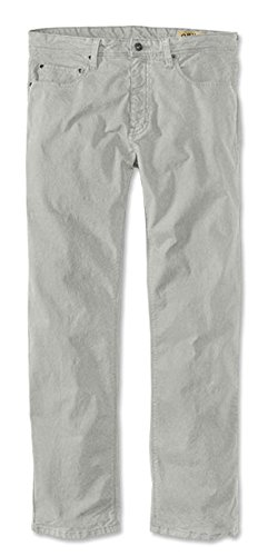 Orvis Men's 5-Pocket Stretch Pants, Light Gray, 32, Inseam: 30 inch (Blended Twill Pants)