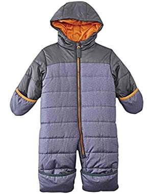 Carters Infant Boys Quilted Gray Snowsuit Baby Bunting Pram Snow Suit
