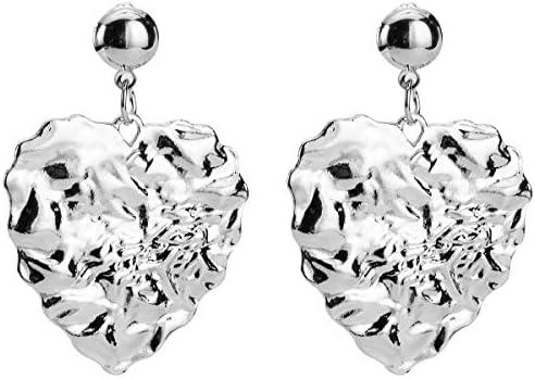 MDGWM Liebe Legierung Ohrringe, High-End-Mode Ohrschmuck, als Symbol für schöne Liebe 4,8 * 3,3 cm Silber