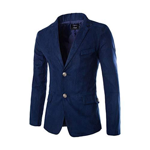Hx Basic Risvolto Uomo Fashion Leisure Blazer Lunga Da Autunno Casual Men Navy Taglie Knop Comode Manica Business Abiti Giacche 2 Slim Fit Suit odxeWCBQr