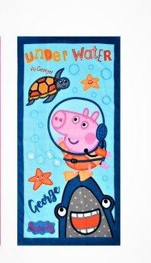 Factorycr PEPPA PIG - Toalla playa 100% algodón 290 gr. 70 x 140 cm. Azul: Amazon.es: Hogar