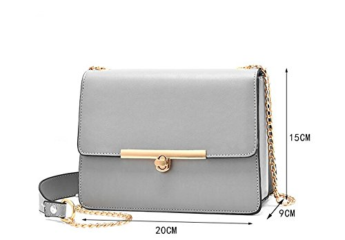 Slanting Bag Lock Single Grey Chain Bag Mini Bag Shoulder Rotary Small Lady vx857T