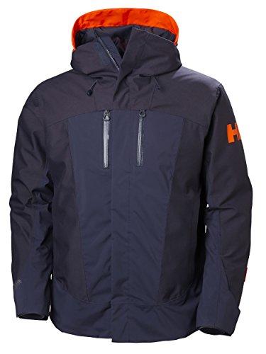 Helly Hansen Men's SOGN 2.0 Waterproof Insulated Ski Jacket, Graphite Blue, Large