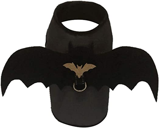 Disfraz de alas de murciélago para perro, color negro, para ...