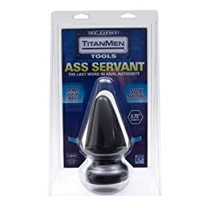 "TITAN MEN BUTT PLUG 3.75"" DIA. ASS SERVANT"