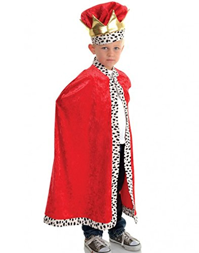 Child's Royal King Costume (Little Boy's King Cape Costume)