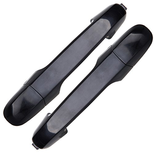 SCITOO 2Pcs Door Handle Black Exterior Rear Right Left Side fits Hyundai Elantra 2006-2012 by SCITOO