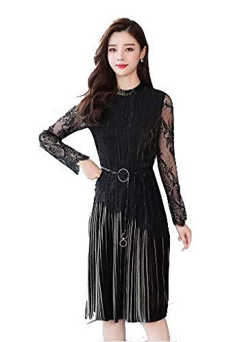 7376f33785dc7  grandress ワンピース ドレス 結婚式 黒 ネイビー ベージュ パーティードレス ベルベット レース ひざ丈. 画像をクリックして拡大 イメージを表示