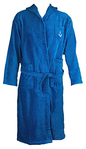 Bath Robe Men's/Boys 100% Cotton Bathrobe Long Hooded Bathrobe 100% Absorbent Cotton Terrycloth Inside And Velour Finishing Outside With 2 Pockets by Abstract (100 Cotton Mens Bath Robe)