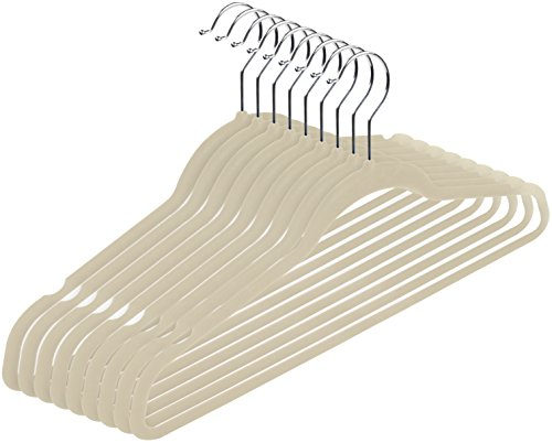Utopia Home Premium Velvet Hangers (Pack of 50) Heavy Duty - Non Slip - Velvet Suit Hangers - Ivory - by